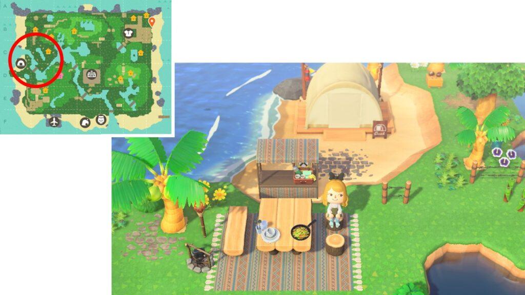 島クリ、キャンプサイト画像